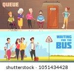 people in queues in doctors... | Shutterstock .eps vector #1051434428