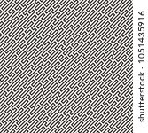 vector seamless black and white ... | Shutterstock .eps vector #1051435916