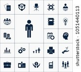 vector set of business icons.... | Shutterstock .eps vector #1051440113