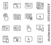 thin line icon set   monitor... | Shutterstock .eps vector #1051450319