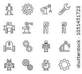 thin line icon set   wrench... | Shutterstock .eps vector #1051451723