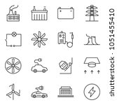 thin line icon set   wiring... | Shutterstock .eps vector #1051455410