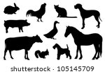 Stock vector silhouette animal 105145709