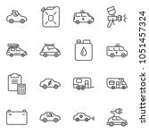 thin line icon set   clipboard... | Shutterstock .eps vector #1051457324