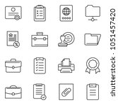 thin line icon set   stamp... | Shutterstock .eps vector #1051457420