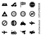 solid vector icon set   taxi... | Shutterstock .eps vector #1051458338