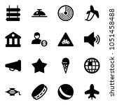 solid vector icon set   sign... | Shutterstock .eps vector #1051458488