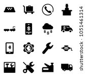 solid vector icon set   taxi... | Shutterstock .eps vector #1051461314