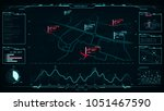 futuristic layout  command... | Shutterstock . vector #1051467590