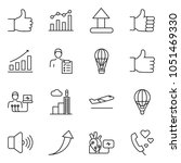 thin line icon set   chart... | Shutterstock .eps vector #1051469330