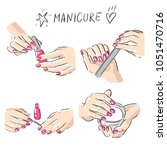 illustration manicure beauty spa | Shutterstock .eps vector #1051470716