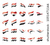 yemeni flag  vector illustration | Shutterstock .eps vector #1051471166