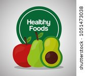 healthy foods lifestyle | Shutterstock .eps vector #1051473038