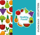 healthy foods lifestyle | Shutterstock .eps vector #1051473386