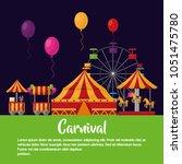 carnival  fair festival | Shutterstock .eps vector #1051475780