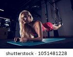 gorgeous blonde woman with long ...   Shutterstock . vector #1051481228