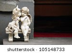 Sculpture Of Angel Boy And...
