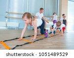 Happy Sporty Children In Gym....