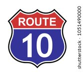 us route 10 sign  highway sign... | Shutterstock .eps vector #1051490000