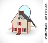 illustration of a house holding ... | Shutterstock .eps vector #1051491656