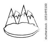 alps peakes icon    Shutterstock .eps vector #1051495100