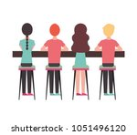people character activity | Shutterstock .eps vector #1051496120