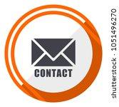 email orange flat design vector ... | Shutterstock .eps vector #1051496270