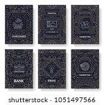 business vector brochure cards... | Shutterstock .eps vector #1051497566