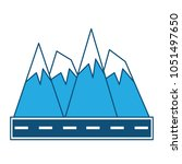 road and alps peaks icon    Shutterstock .eps vector #1051497650