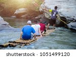group of tourist visiting and... | Shutterstock . vector #1051499120