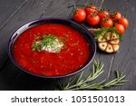 homemade russian  ukrainian and ... | Shutterstock . vector #1051501013