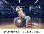 pretty woman with long blonde...   Shutterstock . vector #1051502480