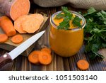 vegetarian puree with sweet... | Shutterstock . vector #1051503140