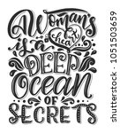 hand drawn romantic typography... | Shutterstock .eps vector #1051503659