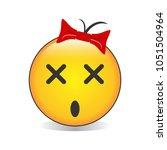 dizzy face emoji vector | Shutterstock .eps vector #1051504964