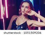 waist up portrait of young... | Shutterstock . vector #1051509206