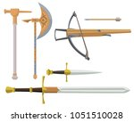 collection of ancient weapon.... | Shutterstock .eps vector #1051510028