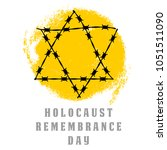 holocaust remembrance day.... | Shutterstock .eps vector #1051511090