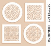 round and square line patterns  ... | Shutterstock .eps vector #1051511210