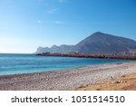 altea city beach  costa blanca  ... | Shutterstock . vector #1051514510