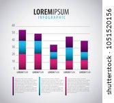 infographics statistics diagram | Shutterstock .eps vector #1051520156
