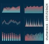 business chart collection. set... | Shutterstock .eps vector #1051523624