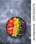 fresh healthy vegetarian... | Shutterstock . vector #1051524173