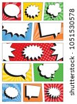 comic book page template with... | Shutterstock .eps vector #1051530578