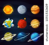 solar system planets isolated... | Shutterstock .eps vector #1051532609