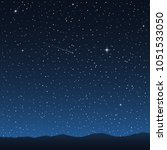 night sky with stars. vector... | Shutterstock .eps vector #1051533050