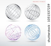 set of abstract images of...   Shutterstock .eps vector #1051537259