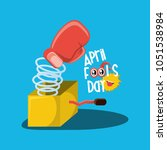 april fools day design | Shutterstock .eps vector #1051538984