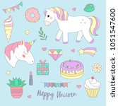 vector set of fashion stickers... | Shutterstock .eps vector #1051547600