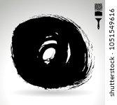 black brush stroke and texture. ...   Shutterstock .eps vector #1051549616